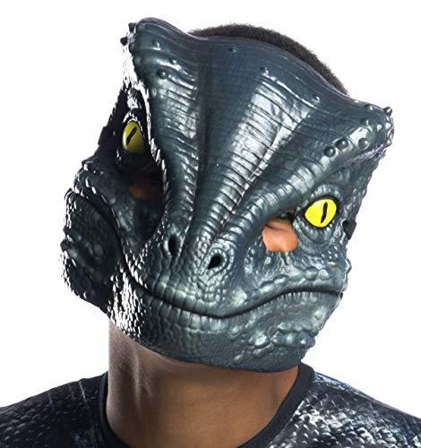 Rubie's Kids/Adult Jurassic World: Fallen Kingdom- Velociraptor Blue Vacuform 1/2 Mask
