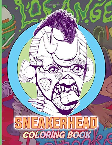 Sneaker Head Coloring Book: Sneaker Head Coloring Books For Adults Relaxation