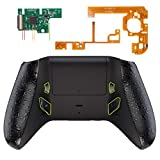eXtremeRate Textured Black Lofty Programable Remap & Trigger Stop Kit, Upgrade Boards & Redesigned Back Shell & Side Rails & Back Buttons & Trigger Lock for Xbox One S/X Controller Model 1708