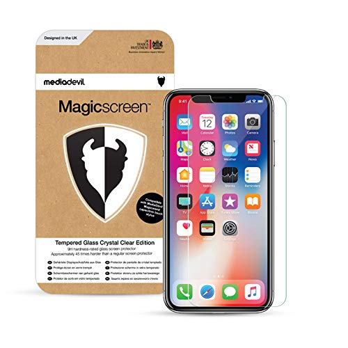 MediaDevil Screen Protector for iPhone 12 and iPhone 12 Pro (6.1') - Tempered Glass with Easy-Installation Positioning Frame (2-Pack)