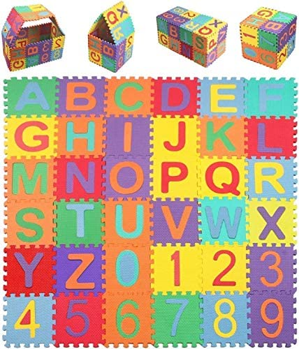 StillCool Baby Foam Play Mat 36 Piece Set 5 9x5 9 Inches Interlocking Kid s Floor Puzzle Colorful product image