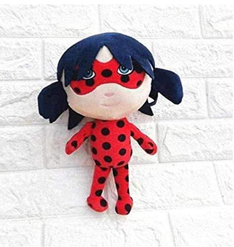 Miraculous Ladybug and Cat Noir Peluche de Felpa de Animales Juguetes para niños Regalos para niños - Regalos de 28 cm