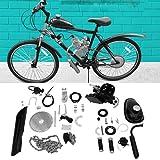 Liju 80cc Motorized 2-Stroke Upgrade Bike Conversion Kit, DIY Petrol Gas Engine Bicycle Motor Kit Set for 24', 26' and 28' Bikes (Black)