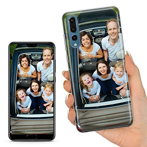 TULLUN Personalisierte Individuelle Ihr Eigenes Bild Foto Brauch Soft Gel Schutzhülle Handy Hülle für Huawei Modelle - Ihr Eigenes Design - für Huawei P20 Lite
