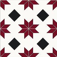 WallPops FP2482 Orion Peel & Stick - Juego de baldosas (10 unidades), color rojo