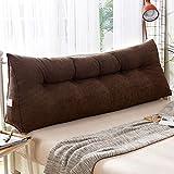 Plüsch Tatami Kopfteil Dreieckige Keil Kissen Bett rückenlehne, Gefüllt Lesen kopfkissen Bett Support für positionierung Schlafsofa Lumbale pad-H 200x23x50cm(79x9x20inch)