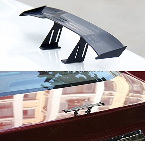 UChic 2PCS Universal Car Mini Spoiler Wing Small Model Carbon Fiber Auto Car Tail Decoration Spoiler Wing Accessories Car-styling