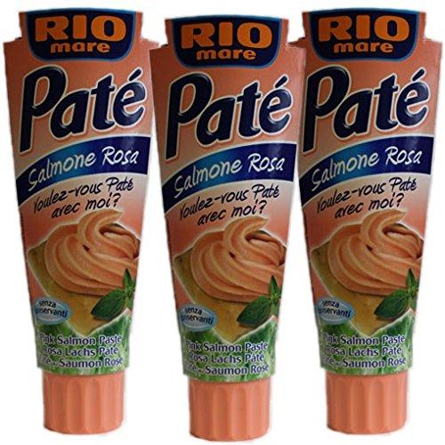 3x Rio mare Rosa Lachs Paté 'Salmone Rosa', 100 g