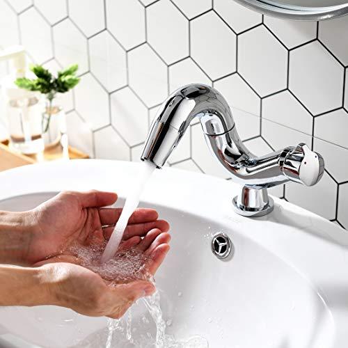 Aimadi Design Mischbatterie Bad Wasserhahn Badarmatur Waschtischarmatur Waschbeckenarmatur Waschbecken Badezimmer Chrom - 4