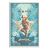 RQSY Avatar The Last Airbender Aang Anime-Poster auf
