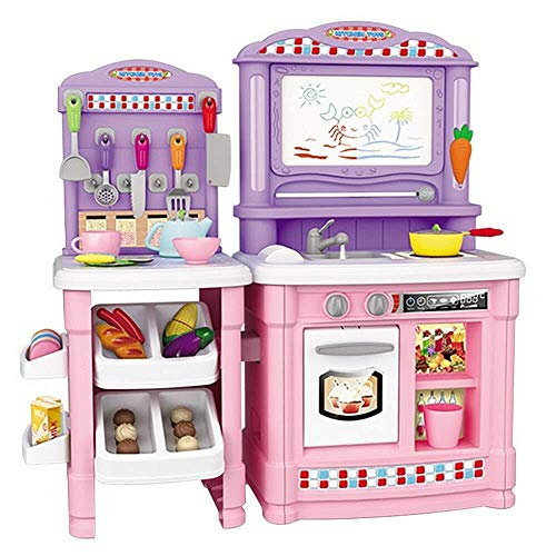Tent, Kids Fun Toy Kitchen Cooking Set Girl Boy Fruit Vegetable Tea Toy Child Toy Early Development Education Pretend Play Food Category Set Best Birthday Gift Interesting toy ( Color : Pink )
