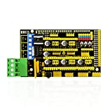 KEYESTUDIO 3D Printer Controller Board RAMPS 1.4 REPRAP Mendel PRUSA with Stepper Jumper Screw Terminal Block for Arduino Mega and ramps 1.4 Projects DIY