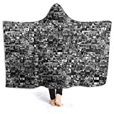 Wabaodan Every Episode of The Office Soft Hooded Blanket Coverall Cape Cloak 80'' X60