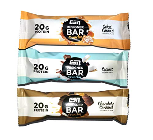 ESN Designer Bar Crunchy - Mix Box (Chocolate Caramel, Coconut, Salted Caramel) 12 x 60g