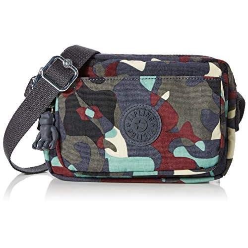 Kipling Abanu - Borse a tracolla Donna, Multicolore (Camo Large), 20x13.5x7.5 cm (B x H T)