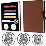 Hufflepuff Badge Wax Seal Stamp Kit, VIHOME Hogwarts Magic School Creative Mysterious Retro Stamp Maker Kit Great for Gift HP Fans Birthday (Hufflepuff)