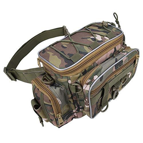 VGEBY1 Angelköder Tasche, tragbare Nylonköder Aufbewahrungstasche mit verstellbarem Gürtel Umhängetasche Angelzubehör