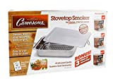 Stovetop Smoker - The Original (11 x 15 x 3.5) Value Pack Stainless Steel Smoking Box with 3 Bonus Pints of Wood Chips - Works Over Any Heat Source, Indoor or Outdoor - Great for 4th of July