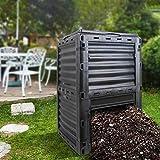 屋外ガーデンコンポストビン、草の食品ゴミのリサイクル、ふた付き