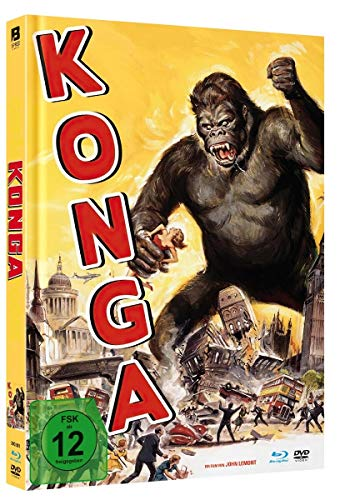 KONGA - Uncut Limited Mediabook (mit Blu-ray+DVD/in HD neu abgetastet)