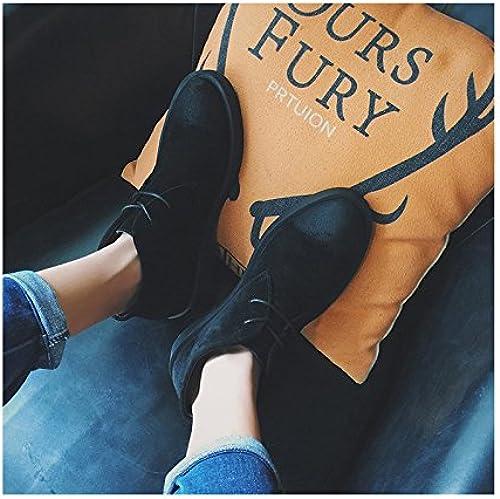HL-PYL-botas de invierno, placa de Corea botas, hombre de botas, botas de algodón caliente y masculina Inglés botas,38,negro