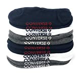 Converse Mens 6 Pack Half Cushion Ultra Low Multi Socks No Show Made For Chucks, 6-12 by