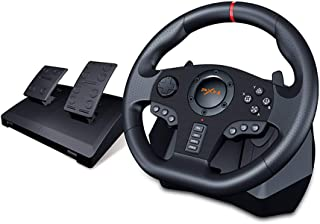 PXN V900 PC Racing Wheel, Universal Usb Car Sim 270/900 degree Race Steering Wheel with Pedals for PS3, PS4, Xbox, One, Nintendo Switch