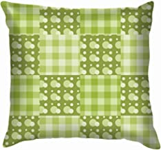 Patchwork Green Curtain Throw Pillow Case Cushion Cover Pillowcase Watercolor for Couch 18X18 Inch