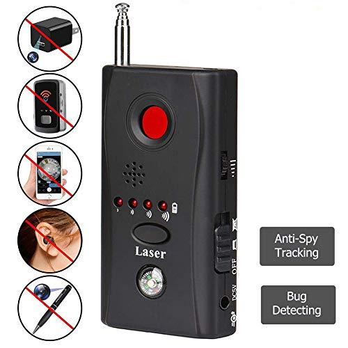 MAXAudio Anti-Kamera-Detektor, Anti-Spyware-versteckter Kamera-Laser, GSM-verstecktes Kamera-Laserobjektiv, tragbarer hochempfindlicher, verbesserter drahtloser RF-Scanner, GPS-Detektor,2packs