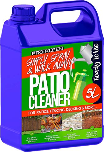 Pro-Kleen 260735 Ready to Use Simply Spray & Walk Away (1 x 5 litres) Patio, Fencing and Decking Cleaner, Multi