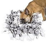 Hywean Sniffing Tappetino per Cani, Sniffing Mat per Cani, Feeding Mat, Training Tappetino per Cani, Giocattolo di Intelligenza per Cani, Bianco