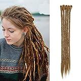 20'(40cm) Pelo Sintético para Trenzas Africanas Hecho de Kanekalon Cabello Se Ve Natural Extensiones de Crochet Dreadlocks Twist Braiding Hair (35g,Castaño Café)