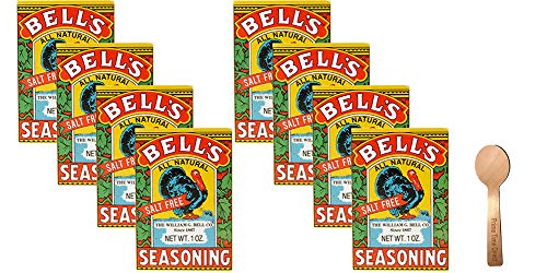 Bell's All Natural Seasoning 1 oz (Pack of 8) Bundle with PrimeTime Direct Spoon in a PTD Sealed Bag