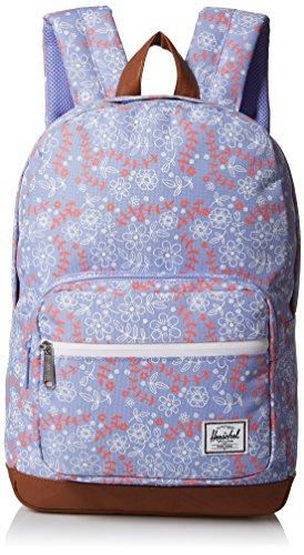 Herschel Pop Quiz Youth Backpack, Unisex-Erwachsene Kinderrucksack, Meadow/Tan Synthetic Leather (violett) - 10314-01398-OS