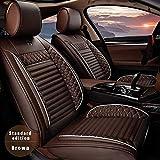 ALLYARD Coprisedile Auto per Volks wagen(VW) T-ROC 2018-2020 5-Sede PU Pelle Posti Protezioni Coprisedili Auto Interno Seat Cover Set Accessori caffè