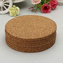 DCDEAL 6pcs 100mmx5mm Round Plain Cork Coasters Cork Mats Drink Wine Coffee Tea Cup Mats Pad For Home Office