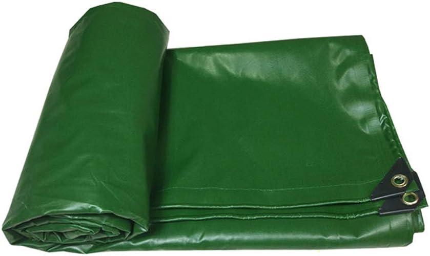 ATR Fangshuibu Tarps Bache imperméable en PVC Bache renforcée pour bache de Toit et de bache pour Toit ouvrant - 500g   O bache de Prougeection Professionnelle (Couleur  Vert, Taille  5  6m)