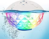 【Upgraded】 Portable Bluetooth Speakers with Colorful Lights Show,IPX7 Waterproof Shower Speaker,Built-in Mic Stereo