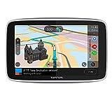 TomTom GPS para coche GO Premium, 5 pulgadas con tráfico y alerta de radares gracias a TomTom Traffic, mapas del mundo, actualizaciones a través de WiFi, llamadas con manos libres, soporte Click-Drive
