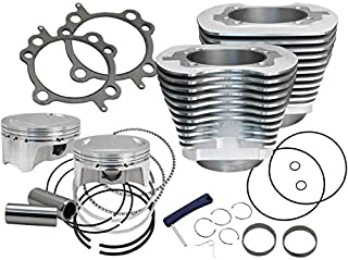 S&S Cycle 910-0650 Bolt-In Sidewinder 4in. Big Bore Kit - 110in. - Silver