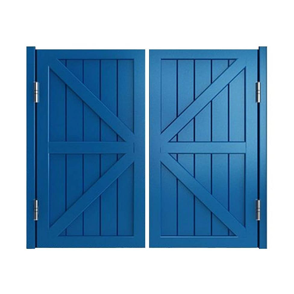 黙認するアプト初心者LIANGLIANG カフェドアーズスイングドア 多機能 ホテル バーカウンター 無垢材 金属 ちょうつがい 装飾、 2色、 サイズ カスタマイズ可能 (Color : Blue, Size : 90x90cm)