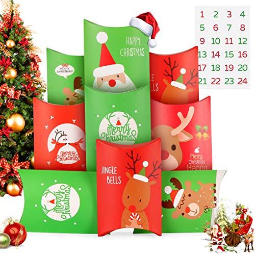 O-Kinee Calendario Dell'Avvento, Avvento Calendario Avvento da Riempire, 24 Calendario Avvento Sacchetti Natale, Calendario dell'avvento Borsa Fai da Te, Decorazioni Feste Natalizienatalizie