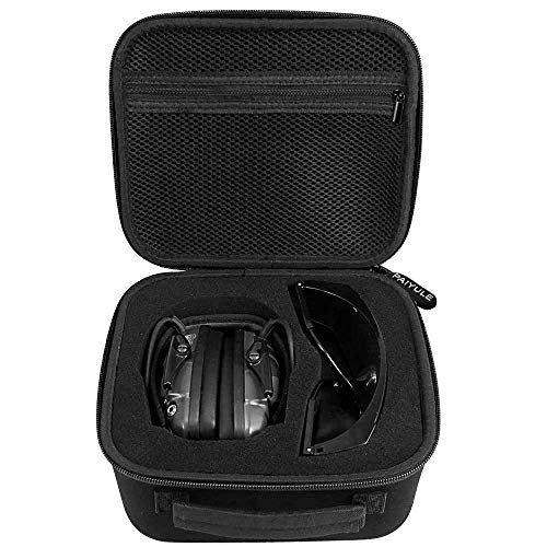 Case Compatible for Howard Leight by Honeywell Impact Sport Sound Amplification Electronic Shooting Earmuff and Safety Glasses/Walker's Game Ear Razor Slim/Awesafe (Box Only)