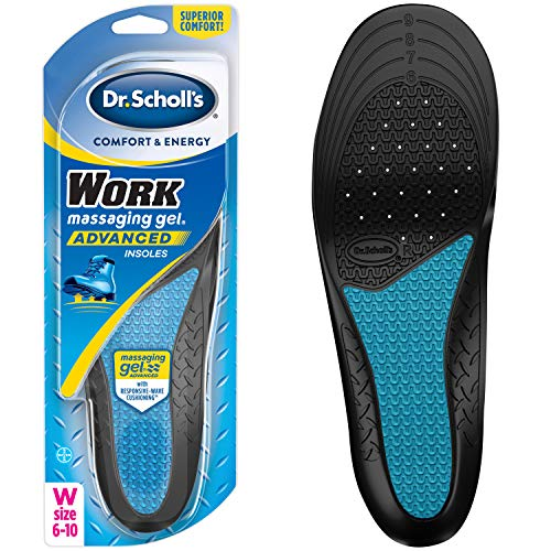 Dr. Scholl's Work Insoles All-Day Shock Absorption and Reinforced Arch Support that Fits in Work Boots and More (for Women's 6-10)