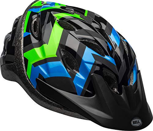 Bell Axle Youth Bike Helmet, Black/Force/Krypto Shifter