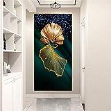 DIY Diamond Painting Kits Talla Grande,Hojas Ginkgo abstracto Pintura de Diamante 5D Completo Set Crystal Rhinestone bordado de punto de cruz artes for Home Wall Decor Gifts Square Drill-40x80in