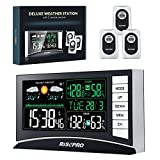 Weather Station, RISEPRO Wireless Weather Station with 3 Sensors in/Out Temperature and Humidity