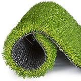 NOOYC Cesped sintético Hierba Alfombra Interior y Exterior, Fácil de Limpiar y Guardar de 10 mm Césped Artificial Césped de Verde Alta Hierba Artificial césped Artificial Rollo ratón,1x2m/3x6ft