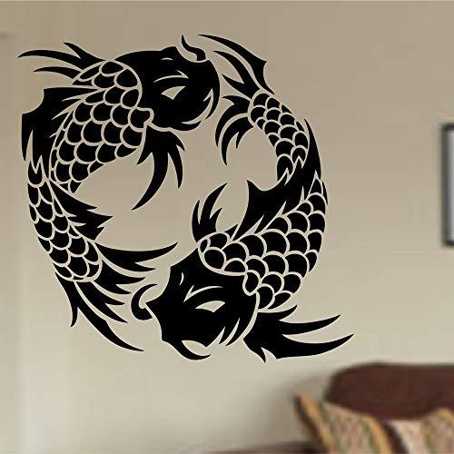 Uiewle Peces Tatuajes de Pared Dormitorio Cocina Comedor diseño de Interiores decoración Pegatinas 57x58cm