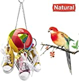 Acidea Bird Toys Bird Cage Toys Mini Sneaker Bird Toy Parrot Bird Chew Toy with Colorful Beads Suggested for Parakeets, Cockatiels, Finches, Budgie, Love Birds Amazon Parrots